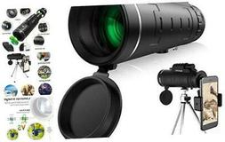 Monocular Telescope, 40X60 High Power HD Monocular with Smar