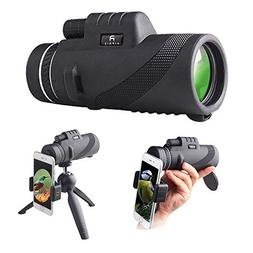 Monocular Telescope by AIPNIS - 12x50 HD Waterproof Shockpro
