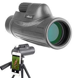 Gosky 12x50 Monocular Telescope - BAK4 Prism FMC Lens, for B