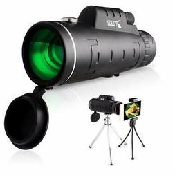 Monocular Telescope, For Smartphone Dual Focus 12X50 HighPow