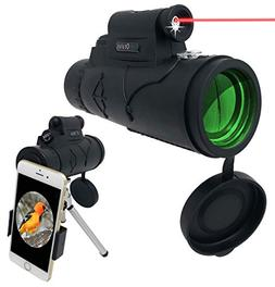Monocular Telescope - 12x50 High Powered Spotting Scope for