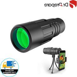 Monocular Telescope W/ Smartphone Adapter Bracket Tripod Wat