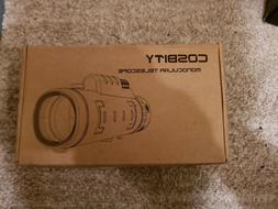 COSBITY Monocular Telescopes, 12x50 Dual Focus Waterproof Sp