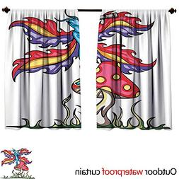 mushroomsun block curtain w63 l72