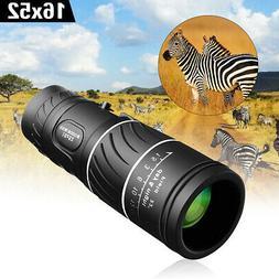 New 16x52 Day Night Vision Dual Focus HD Optics Zoom Monocul
