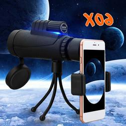 NEW 40X60 Zoom Optical HD Phone Lens Monocular Telescope+Tri