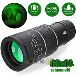 Night Vision 40X60 HD Optical Monocular Hunting Camping Hiki