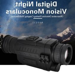 night vision monocular 5x infrared digital camera
