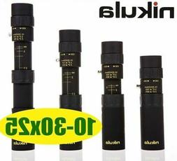 Nikula Mini 10-30x25 High Power Zoom Optical Monocular Teles