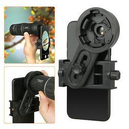 Phone Monocular Telescope Camera Adapter Spotting Scope Micr
