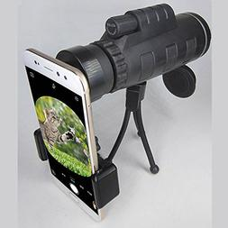 Alician Outdoor Portable Practical 40X60 Monocular BAK4 Mono