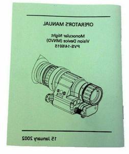 PVS-14, NE 6015 Night Vision Monocular  Operator's Manual, N
