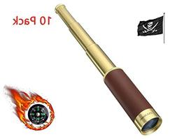PROCHE Retro Pirate Telescope Zoomable 25x30 Pocket Monocula