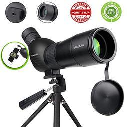 Spotting Scope,Huicocy 20-60x60mm Zoom 39-19m/1000m Fully Mu