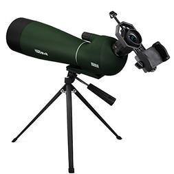 SVBONY SV28 Waterproof Spotting Scope 20-60x80mm for Target