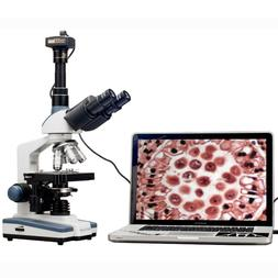 AmScope 2000X LED Lab Trinocular Compound Microscope w 3D Me
