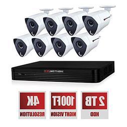 Night Owl THD802-88P 8 Channel 4KUltra HD Wired Smart Securi
