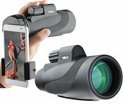Gosky Titan 12X50 High Power Prism Monocular and Quick Smart