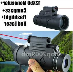 US 12X50 Monocular Telescope Flashlight+infrared Night Visio