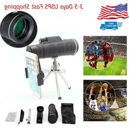 US 40x60 Zoom SCOPE Monocular Telescope Camera Lens+Tripod+C