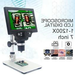 w/Battery MUSTOOL G1200 12MP 7'' HD Digital Microscope 1-120
