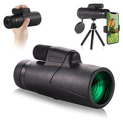 Waterproof Monocular Telescope - EAGWELL 10x42 High Power Mo