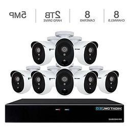 Night Owl XHD502-88P 8 Camera 8 Channel 5MP  DVR Video Secur